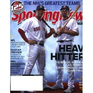 Sporting News February 14 2011 Has 2 covers   outside ad cover has Steven Wallace/Nascar & inside cover has Carl Crawford & Adrian Gonzalez/Boston Red Sox, Nascar Preview, Rebuilding New York Mets, NBA Report, Aaron Rodgers/Green Bay Packers: Sport