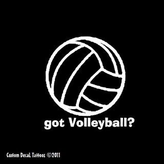 "Got Volleyball? Window Decal Sticker White 7"": Automotive"