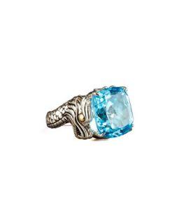 Naga Batu Ring, Blue Topaz   John Hardy   Silver (7)