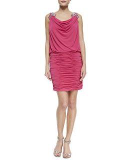 Womens Embellished Shoulder Dress, Watermelon   Laundry by Shelli Segal