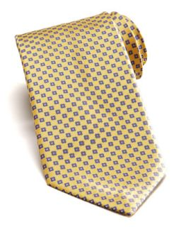 Mens Floral Silk Tie, Yellow   Stefano Ricci   Yellow