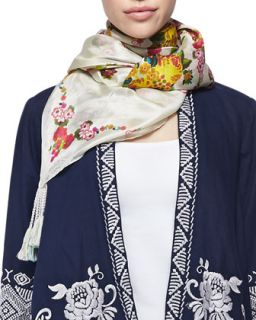 Sala Printed Silk Scarf   Johnny Was Collection   Multi (sala) (ONE SIZE)
