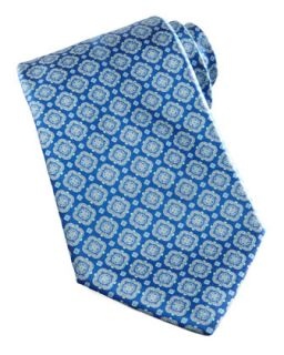 Mens Medallion Silk Tie, Blue   Stefano Ricci   Blue