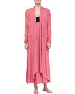 Womens Liquid Jersey Wrap Robe, Rose Quartz   Donna Karan   Rose quartz (SMALL)