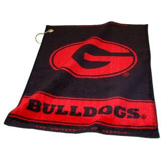 Team Golf University of Georgia Bulldogs Jacquard Woven Towel (637556211804)