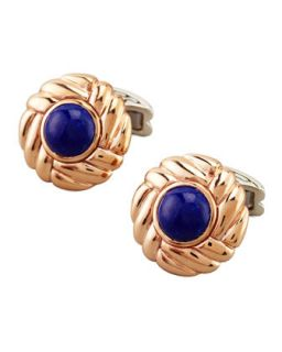 Mens Batu Round Lapis Cuff Links   John Hardy   (ONE SIZE)