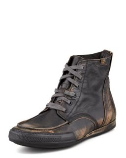 Mens Logan Burnished Camo Boot, Black   7 For All Mankind   Black (7.0D)