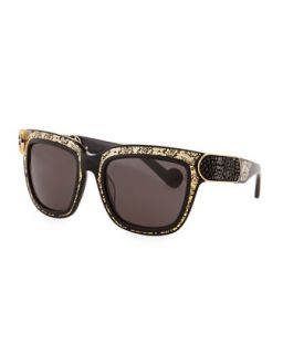 Opulence Sunglasses, Gold/Black   Anna Karin Karlsson   Gold