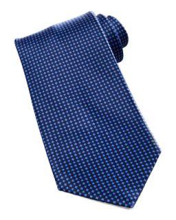 Mens Micro Dot Neat Silk Tie, Navy   Stefano Ricci   Navy