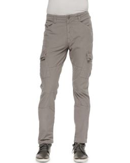 Mens Trooper Cargo Twill Pants, Mineral Gray   J Brand Jeans   Gray (32)