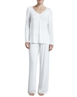 Womens Studio Rosa Jersey PJ Set   La Perla   Ivory (MEDIUM/3)