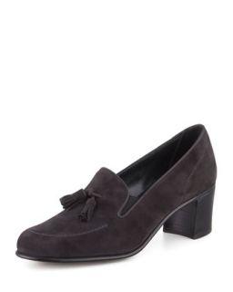 High Heel Tassel Loafer, Gray   Gravati   Gray (8B)