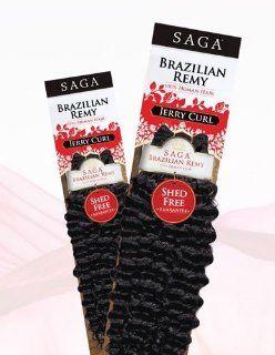 "Saga Brazilian Remy Human Hair JERRY CURL (14'"", 2)  Beauty"