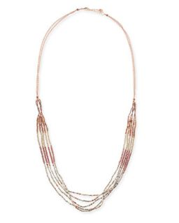 Rose Golden Beaded Necklace   Nakamol   Gold
