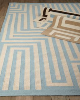 Graphic Maze Flatweave Rug, 8 x 11   Exquisite Rugs
