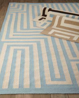 Graphic Maze Flatweave Rug, 8 x 11   Exquisite Rugs