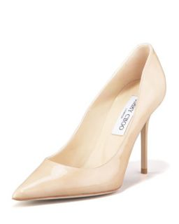 Abel Point Toe Patent Pump, Nude   Jimmy Choo   Nude (8 1/2B)