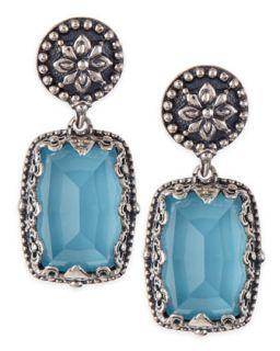 Turquoise Doublet Drop Earrings   Konstantino   Turquoise