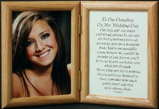 5x7 Hinged TO OUR DAUGHTER ON HER WEDDING DAY Poem ~ Light/Medium Picture/Photo Frame ~ A Wonderful Gift Idea for the BRIDE/DAUGHTER from her PARENTS/MOTHER & FATHER