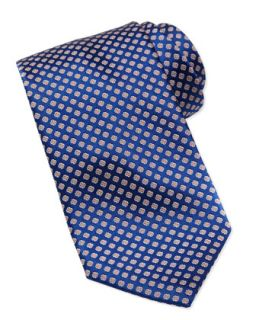 Mens Medallion Silk Tie, Yellow/Blue   Stefano Ricci   Yellow/Blue