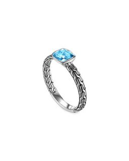 Batu Chain Blue Topaz Ring, Small   John Hardy   Blue (7)