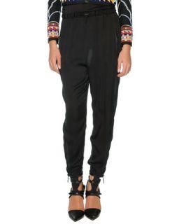 Womens Silk Harem Pants, Black   Emilio Pucci   Black (44/10)