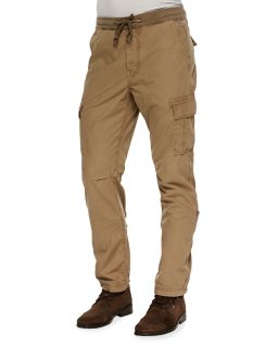 Mens Weekend Cargo Pants, Tan   7 For All Mankind   Tan (40)