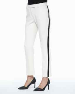 Womens Vienna Side Stripe Pants   Rachel Zoe   Ecru (2)