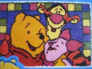 "Latch Hook Kit 20"" x 30"" Pooh Disney Hundred Acre Hug"
