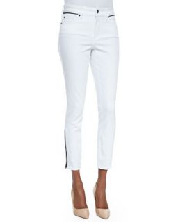 Womens Kaelyn Fitted Ankle Jeans, Arctic White   Not Your Daughters