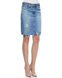 Womens Erin 16 Years Ascension Denim Skirt   AG Adriano Goldschmied   16y acn