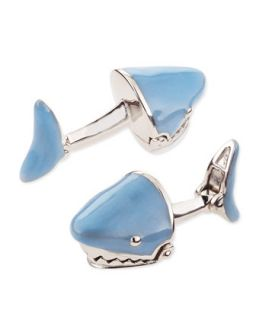 Mens Movable Shark Face Cuff Links, Light Blue   Jan Leslie   Light blue