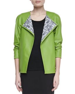 Womens Venus Lambskin Topper, Grass   Lafayette 148 New York   Grass (PETITE/0
