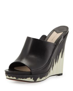 Glinda Hand Painted Leather Wedge Mule, Black   10 Crosby Derek Lam   Black (40.