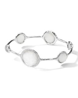 Stella Bangle in Mother of Pearl Doublet with Diamonds   Ippolita   Silver