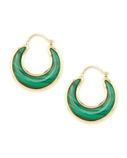 Luna 18k Malachite Earrings   Syna   (18k )