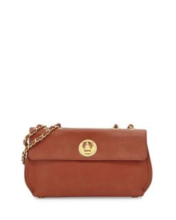 Borsa Faux Leather Crossbody Bag, Brown   Moschino