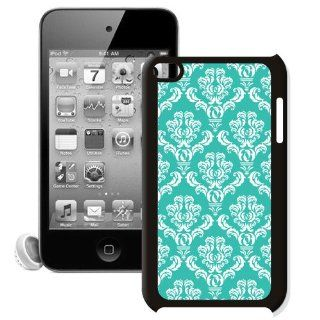 CellPowerCasesTM Damask Turquoise Apple iPod Touch 4G Case   Fits iPod 4th Generation : MP3 Players & Accessories