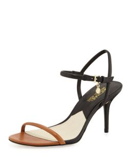 Carlene Naked Sandal   MICHAEL Michael Kors   Luggage/Black (38.0B/8.0B)