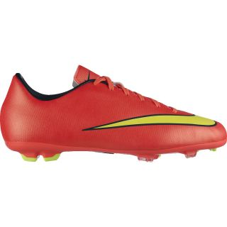 NIKE Boys Mercurial Victory V FG Low Soccer Cleats   Size 5, Hyper Punch