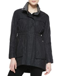 Womens Quilted Anorak Jacket, Black   Ali Ro   Black (8)
