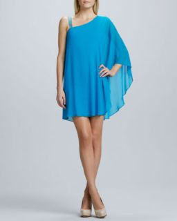 Womens One Shoulder Caftan Cocktail Dress   Erin by Erin Fetherston   Blue (4)