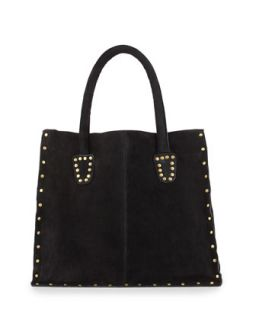 Tori Stud Trim Box Tote Bag, Black   Raj