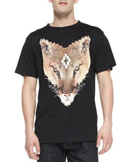 Mens Bobcat Graphic Jersey Tee, Black   Marcelo Burlon   Black (MEDIUM)
