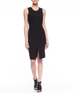 Womens Stephanie Cutout Jersey Dress, Black   French Connection   Black (4)