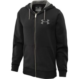 UNDER ARMOUR Mens Charged Cotton Storm Full Zip Hoodie   Size Xl, Black/grey