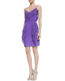 Womens Gloria Silk Lace Dress   Valentina Shah   Glicine (8)