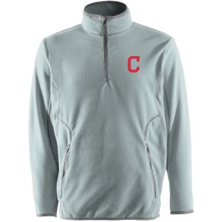 Antigua Cleveland Indians Mens Ice Pullover   Size: Medium, Silver (ANT INDN