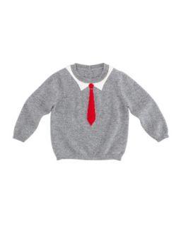 Kens Tie Intarsia Cashmere Sweater, 6 24 Months   Christopher Fischer   (18