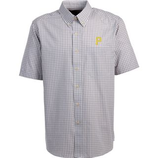 Antigua Pittsburgh Pirates Mens Scholar Button Down Short Sleeve Shirt   Size: